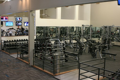 New Weight Room Area on Level Two