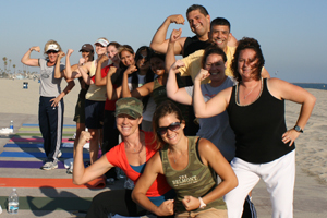Small Group Training Boot Camp on the Beach